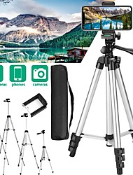 cheap -Adjustable Phone Camera Tripod Stand  Professional Flexible Aluminum Photography Tripod For Smart Phone Digital Camera Camcorders DSLR SLR