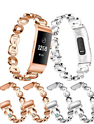 cheap -Watch Bands for Fitbit Charge 4 sport watch Band Stainless Steel Metal Wrist Strap Women Jewelry Bracelet for Charge 3 bands