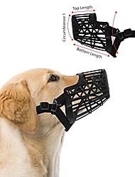 cheap -basket cage dog muzzles, adjustable for small, medium and large dogs - great for training, stops biting, size 6 - x large - black
