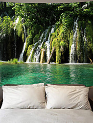 cheap -Wall Tapestry Art Deco Blanket Curtain Picnic Table Cloth Hanging Home Bedroom Living Room Dormitory Decoration Polyester Fiber Landscape Landscape Green Tree Lake