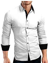 cheap -men's dress shirts big & tall solid regular fit long sleeve button down shirt black 3xl