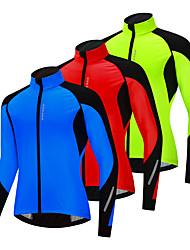 cheap -WOSAWE Men's Cycling Jersey Winter Bike Jacket Tracksuit Windbreaker Thermal Warm Windproof Fleece Lining Sports Solid Color Blue / Green / Rose Red Clothing Apparel Bike Wear / Long Sleeve