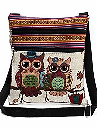 cheap -vintage ethnic tribal embroidered tassel sling crossbody boho hippie shoulder bag (9.3x8.3 inches, e)