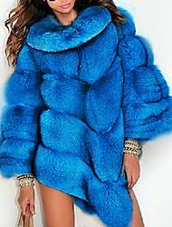 cheap -Long Sleeve Coats / Jackets Fox Fur Wedding Women's Wrap With Fur