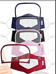 cheap -5 pcs Visual Mask Detachable Lip Language Mask Transparent One-piece Mask Adult Two-piece Mask