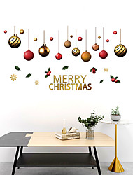 cheap -Christmas Balls Wall Stickers Decorative Wall Stickers, PVC Home Decoration Wall Decal Wall Decoration / Removable 30*90*2CM