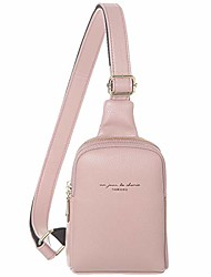 cheap -crossbody cell phone sling bag for women synthetic leather small crossbody cell phone purses(pink)