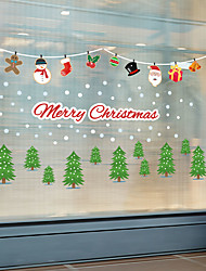 cheap -Christmas Lights Wall Stickers Decorative Wall Stickers, PVC Home Decoration Wall Decal Wall Decoration / Removable 30*90*2CM