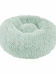 cheap -donut cuddler calming bed, ultra soft plush dog cat deep sleeping bed winter warm round fluffy pet nest(green,s)