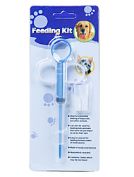 cheap -Dog Cat Health Care / Feeders 0.01 L Casual / Daily Animal White Bowls & Feeding
