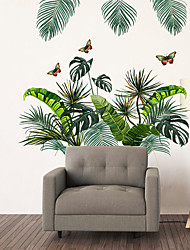 cheap -WallDecals Decor Vinyl DIY Green Tree Leaves Wall Stickers Removable Waterproof Wallpaper Decals Art Easy Peel & Stick for Kids Room Living Room Bedroom 60*90CM