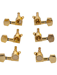 cheap -NAOMI Guitar String Peg Locking Tuners Tuning Pegs Golden Machine Heads 3L3R Guitar Pegs For Electric Acoustic Guitar