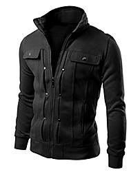 cheap -mens jacket, 2017 men fashion slim designed lapel cardigan coat jacket outwear (m, black)