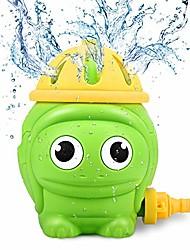 billige -børn sprinkler vand legetøj, sød skildpadde sommer spinning sprøjte til småbørn udendørs baghave leg, spray op til 8ft og fastgøres til standard haveslange