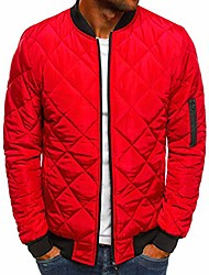 cheap -mens flight bomber jacket diamond quilted varsity jackets winter warm padded coats outwear red