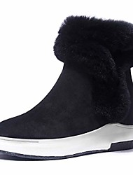 cheap -womens snow boots for women,wedge winter warm faux fur ankle boots (9, black)