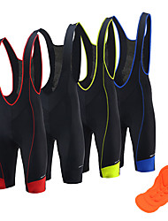 cheap -Arsuxeo Men's Cycling Bib Shorts Summer Nylon Spandex Bike Bib Shorts Pants Bottoms Quick Dry Moisture Wicking Sports Solid Color Black / Red / Blue Road Bike Cycling Clothing Apparel Relaxed Fit