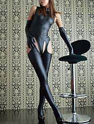 cheap -Women's Cut Out Uniforms & Cheongsams Suits Bodysuits Nightwear Solid Colored Black S M L