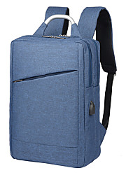 cheap -Large Capacity / Waterproof Commuter Backpack Unisex Polyester Zipper Solid Color Daily Black / Blue / Gray