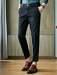 cheap -Men's Suits Notch Standard Fit No Buttons Solid Colored Spandex Cotton Polyester