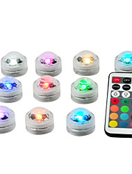 cheap -Waterproof Battery Operated Multi Color Submersible LED Underwater Light for Fish Tank Pond Swimming Pool Wedding Party