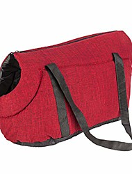 cheap -soft-sided pet travel bag shoulder bag portable dog carrier handbag with air vent opening and safety zipper cats carrying case for kittens puppies small dogs (red)