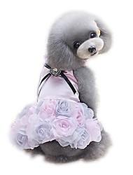 cheap -pet small dog clothes party dress rose wedding satin puppy costume tutu grey
