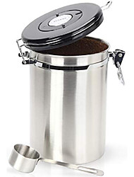 cheap -coffee canister - gorgeous stainless steel storage container with scoop - keeps your coffee airtight fresh and flavorful, 22oz