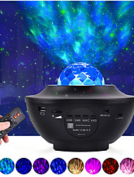 cheap -LED Starry Galaxy Projector Night Light Ocean Wave Projection with Bluetooth Music Speaker 8W LED 10 Colors 21 Lighting Modes Brightness Levels Adjustable with Remote Control-LITBest