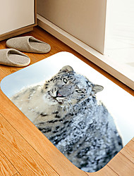 cheap -Black and white snow leopard digital printing floor mat Flowers Kitten Girl Modern Bath Mats Nonwoven / Memory Foam Novelty Bathroom