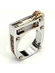 cheap -Ring Geometrical Silver Brass Gear Statement 1pc 6 7 8 9 10