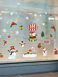 cheap -WallDecals Decor Vinyl DIY Christmas Santa Claus Wall Stickers Removable Waterproof Wallpaper Decals Art Easy Peel & Stick 30*90*2CM