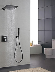 cheap -Shower Faucet / Shower System / Rainfall Shower Head System Set - Handshower Included Fixed Mount Rainfall Shower Contemporary Painted Finishes Mount Inside Ceramic Valve Bath Shower Mixer Taps
