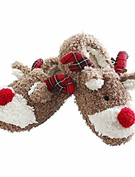 cheap -christmas slippers for women fuzzy reindeer house shoes with memory foam 9 brown