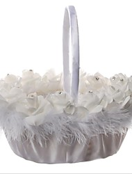 cheap -Simulation Foam Flower Western Wedding Bride Flower Basket 1pc