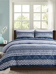 cheap -Blue Strip Print 3 Pieces Bedding Set Duvet Cover Set Modern Comforter Cover Ultra Soft Hypoallergenic Microfiber and Easy Care(Include 1 Duvet Cover and 1 or2 Pillowcases)