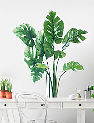 cheap -Floral / Botanical Wall Stickers Plane Wall Stickers Decorative Wall Stickers, PVC Home Decoration Wall Decal Wall Decoration 1pc 70*60cm Wall Stickers for bedroom living room