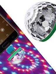cheap -LED Mini USB Magic Ball Light Colorful Atmosphere RGB DJ Club Disco Party Car Lamp Stage Effect Portable Xmas Halloween Holiday