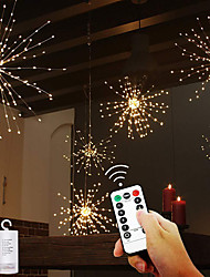 cheap -120 Leds Twinkle Starburst Firework String Lights For Holiday Festival Christmas Outdoor Indoor Decoration Lights