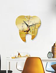 cheap -Creative Dental Wall Clock Dental Decoration Wall Clock 3D Acrylic Creative Mirror Wall Sticker Clock  Quartz  Clock