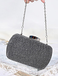 cheap -Women's Bags Polyester Alloy Evening Bag Glitter Solid Color Handbags Wedding Event / Party Black Gold Silver