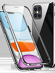 cheap -Magnetic Case for iPhone 12 Pro Max Clear Magnet Case 360 Protection Double Sided Glass Case Phone Cover Protective Case for Apple iPhone XR 11Pro Max XS Max XS X 8 8 Plus 7 7 Plus