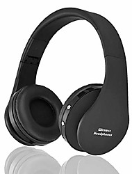 cheap -bluetooth over-ear headphones, wireless stereo foldable headphones wireless and wired headsets with built-in mic for iphone/samsung/ipad/pc  & #40;black& #41;