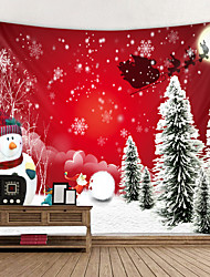 cheap -Christmas Santa Claus Holiday Party Wall Tapestry Art Decor Blanket Curtain Picnic Tablecloth Hanging Home Bedroom Living Room Dorm Decoration Christmas Tree Gift Snowman Polyester