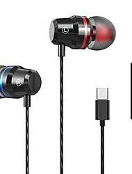 cheap -Sport Oortelefoon Wired Bass Usb Type-C Headset Oordopjes Met Microfoon Handsfree Type C Muziek Oortelefoon Voor Xiaomi samsung Huawei