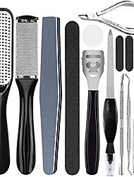 cheap -professional pedicure kit, foot file callus remover -soulkoo foot scrubber callus removers for feet foot scraper foot rasp grater professional callus file for wet and dry feet (black)