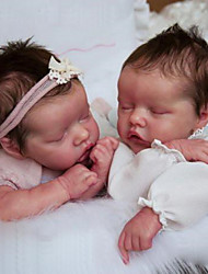 cheap -17 inch Reborn Doll Baby & Toddler Toy Baby Boy Reborn Baby Doll Twins A Newborn lifelike Hand Made Simulation Floppy Head Cloth Silicone Vinyl with Clothes and Accessories for Girls' Birthday and