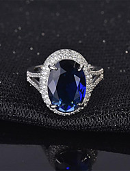 cheap -Adjustable Ring Emerald Classic Blue Green Copper Imitation Diamond Flower Fashion 1pc Adjustable / Women's