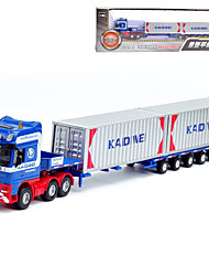 cheap -KDW 1:50 Plastic Alloy Container Truck Engineering Vehicle Alloy Car Model Simulation All Adults Kids Car Toys