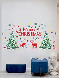 cheap -Christmas Tree Wall Stickers Decorative Wall Stickers, PVC Home Decoration Wall Decal Wall Decoration / Removable 30*90*2CM